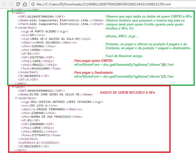 [Resolvido]Importar dados do destinatário da NF-e xml Sem_ty26