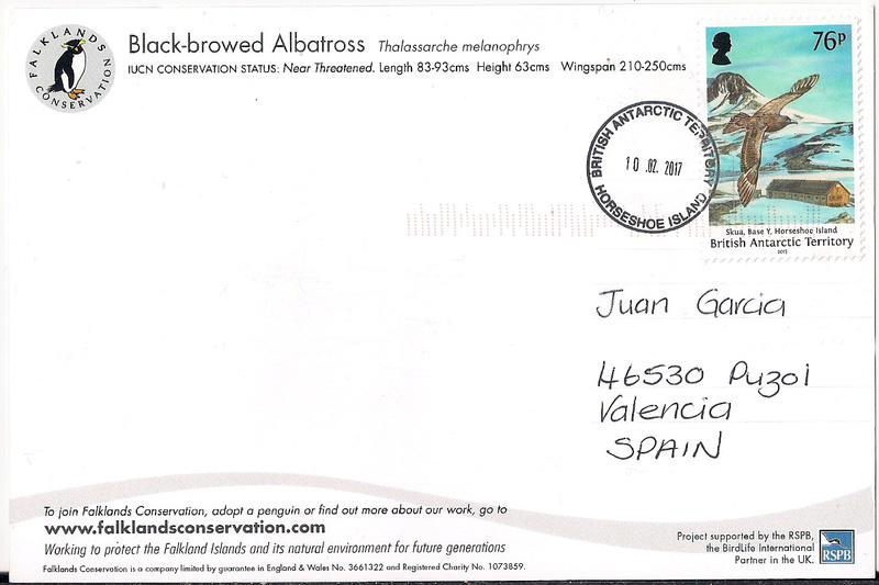 BAT Territorio Antártico Británico - Isla Horseshoe - Oficina de Correos Temporal ¡Última hora! Postca10