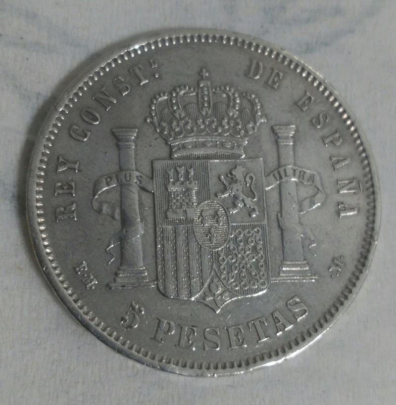 5 Pesetas 1879  (*18-79). Alfonso XII. EM-M. _2017025