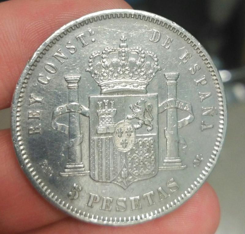 5 Pesetas 1879  (*18-79). Alfonso XII. EM-M. _2017027