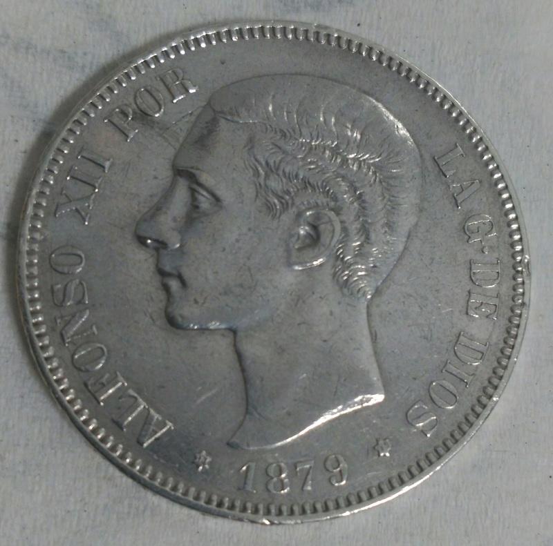 5 Pesetas 1879  (*18-79). Alfonso XII. EM-M. _2017029