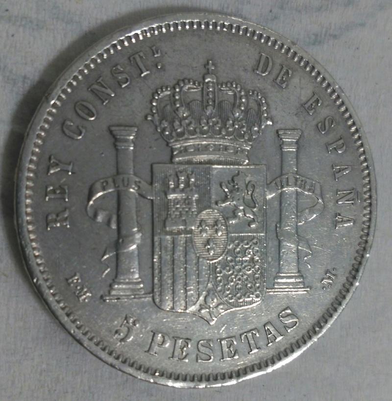 5 Pesetas 1879 *18*79 Madrid EM M. _2017034