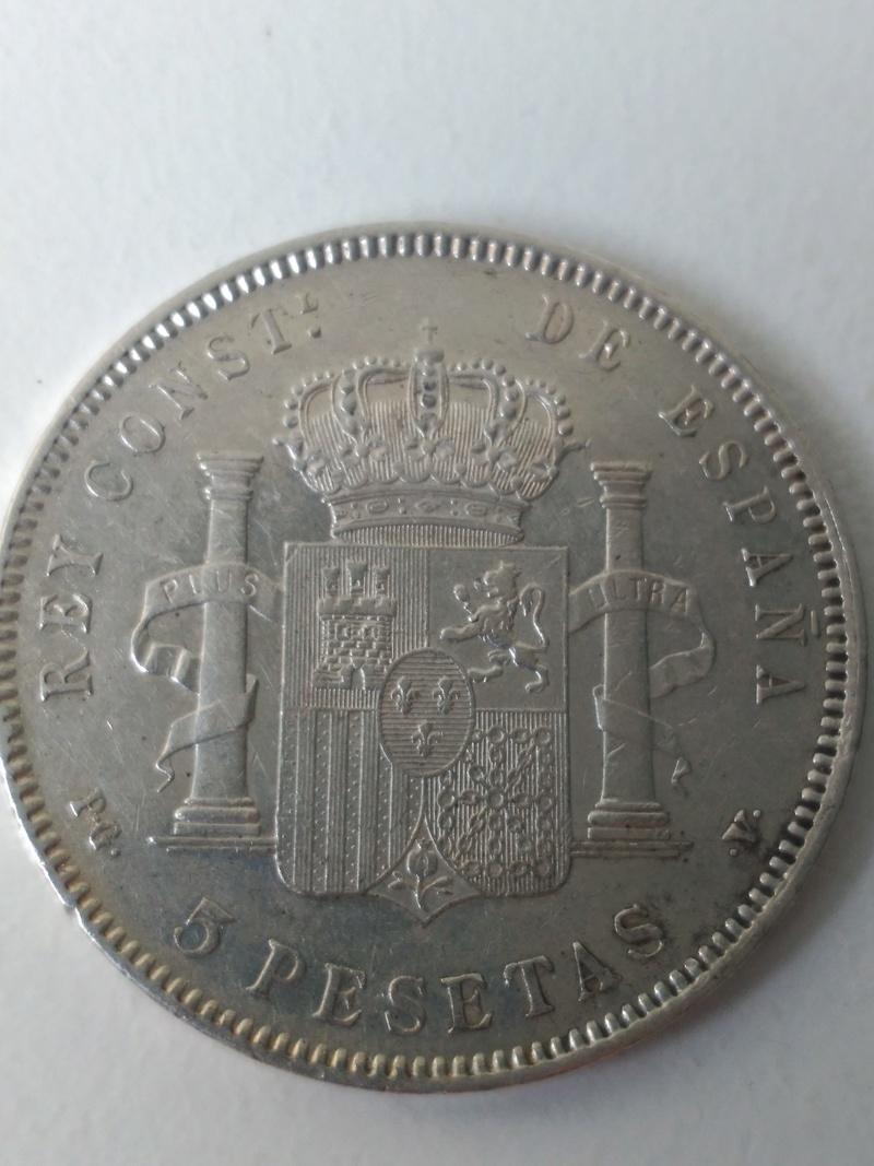 5 Peseta 1896 *18*96 Madrid PG V. Img_2028