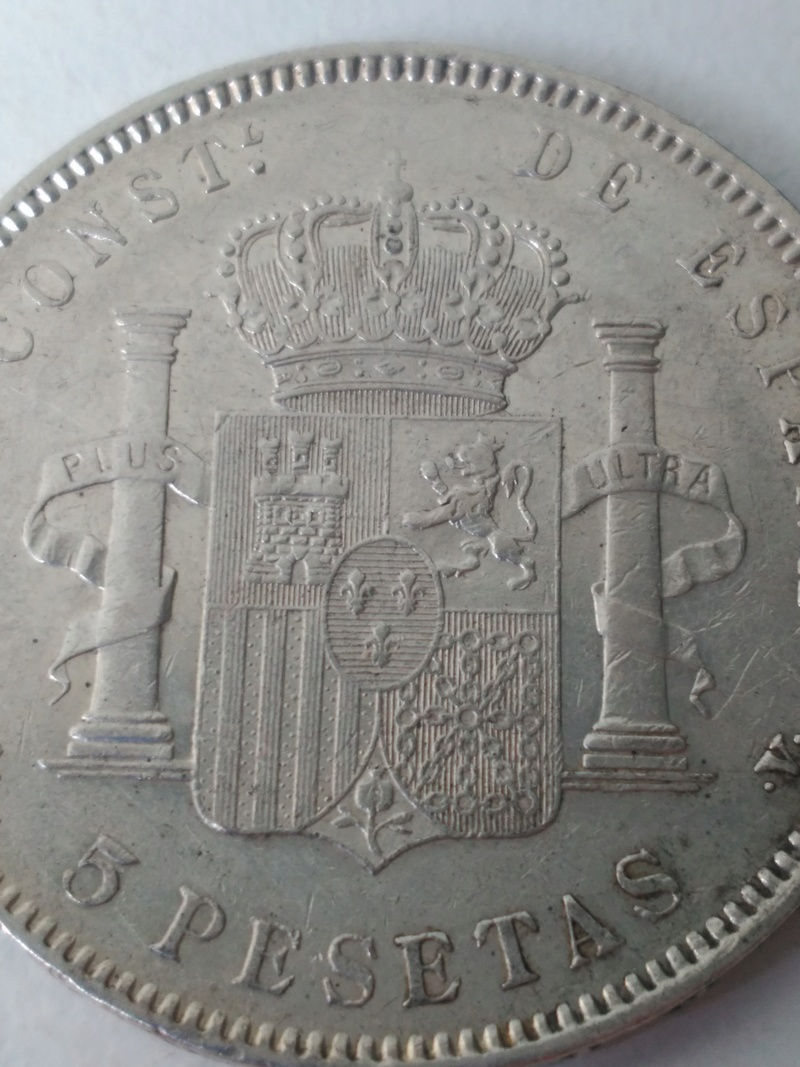 5 Peseta 1896 *18*96 Madrid PG V. Img_2029