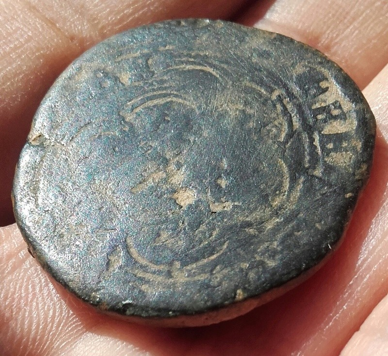 4 maravedís sobre moneda romana Img_2081
