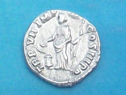 Denario de Cómodo. TRP VIII IMP VI COS IIII PP. Salus estante a izq. Ceca Roma. 102_4077