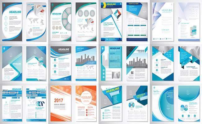 Brochure flyer template design vector 161 19248110