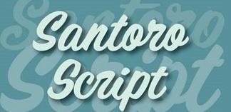 خط انجليزي . Santoro_Script_Font_Family Santor10