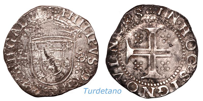 Tostao (100 reis ). Felipe IV ( III de Portugal ). 211