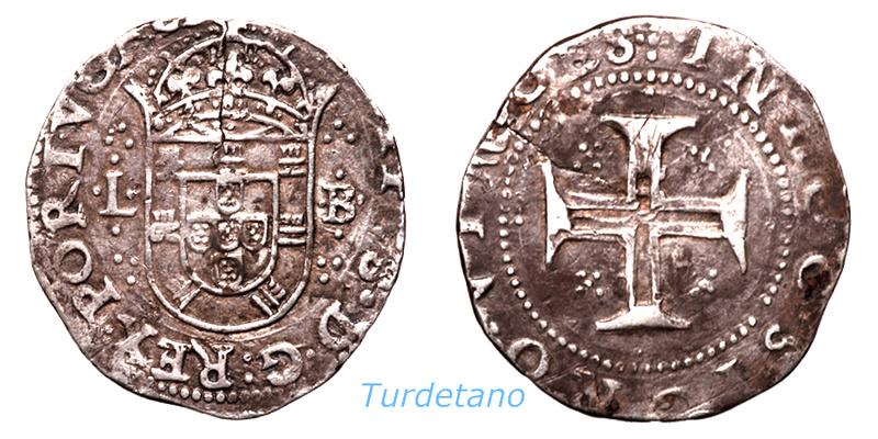 Tostao (100 reis ). Felipe IV ( III de Portugal ). 412