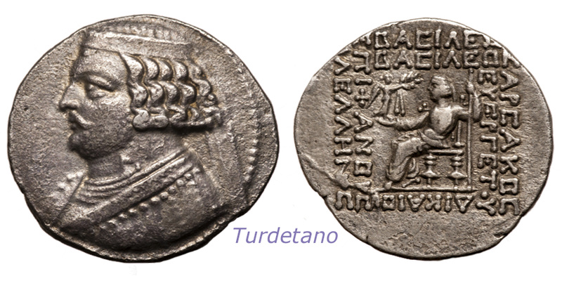 Partia. Tetradracma de Orodes II. 57-38 d.C. Orodes11
