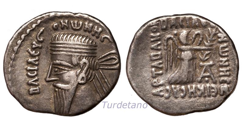 Partia. Dracma de Vonones I. 8-12 d.C. Vonone10