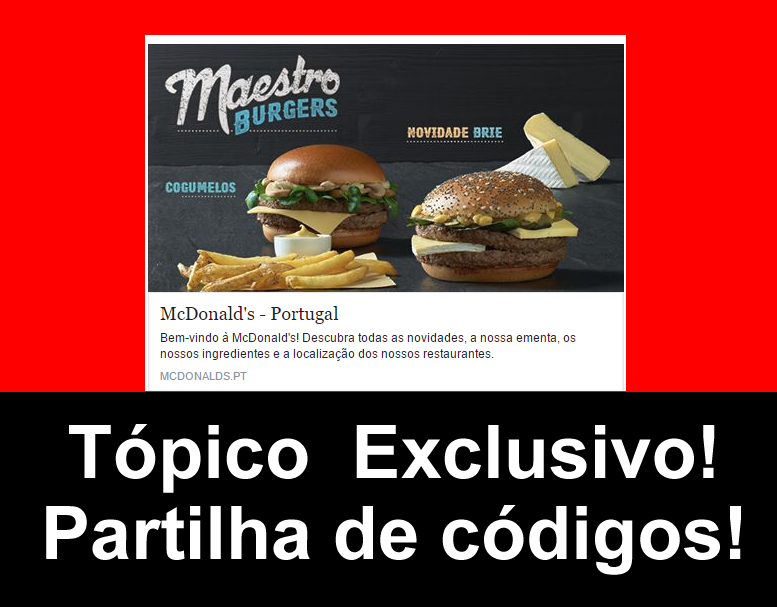 Amostra - McDonalds( MLovers) 18337310