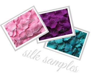 Amostra Petal Garden-Pétalas de rosa em seda coloridas(Internacional) Silksa10