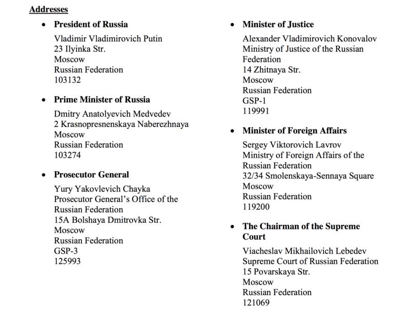 Rússia - A Torre apela a todas as TJ para escreverem carta a Putin Screen11