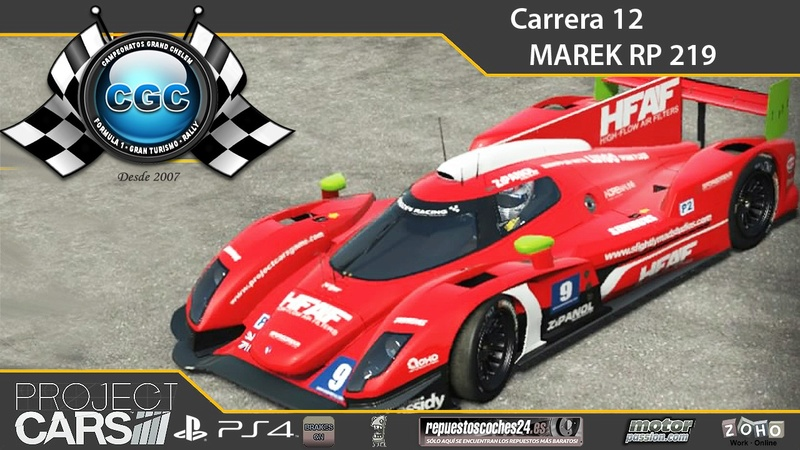 12ª Carrera. Circuito Nurburgrin GP con el Marek RP219 LMP2  Carrer16
