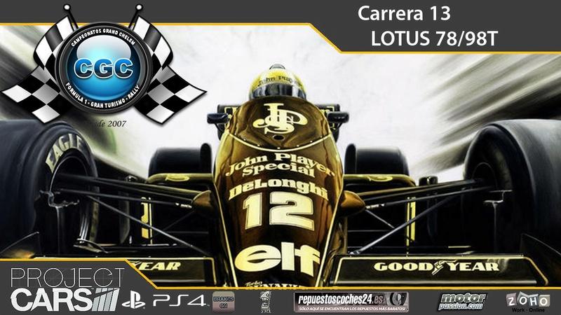 13ª Carrera, Circuito Spa Francorchamps con el Lotus Type 989 Carrer18
