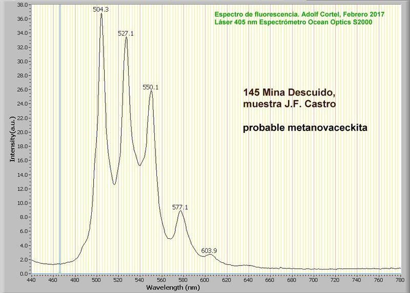 Metanovacekita, Mina Descuido Nº 12004, Los Baños de S. Alhamilla, Pechina, Almeria, Andalucia T_meta10
