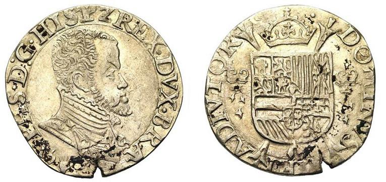 1/5 de Escudo - Felipe II - Amberes 1-5_es10