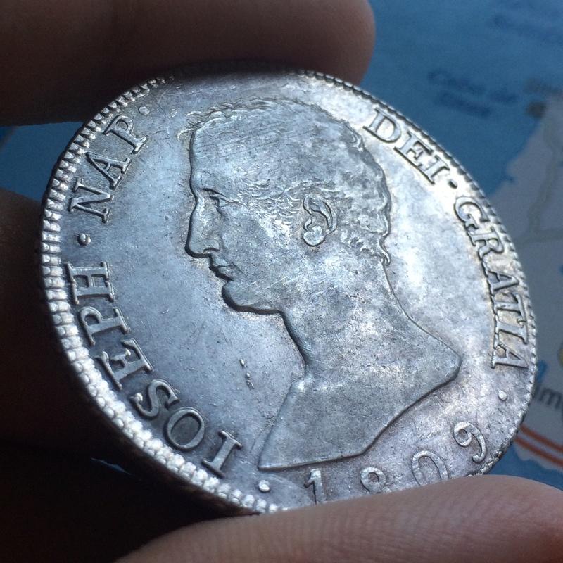 20 Reales 1809. José I. Madrid Detall11