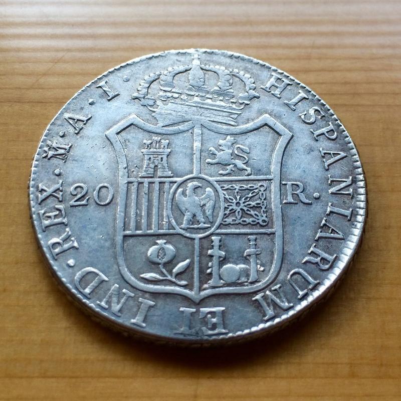 20 Reales 1809. José I. Madrid Revers14