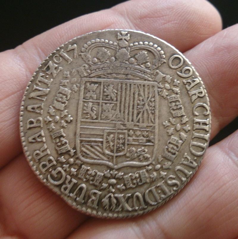 Patagón 1709. Carlos III (pretendiente). Brabante (Amberes) 1709f10