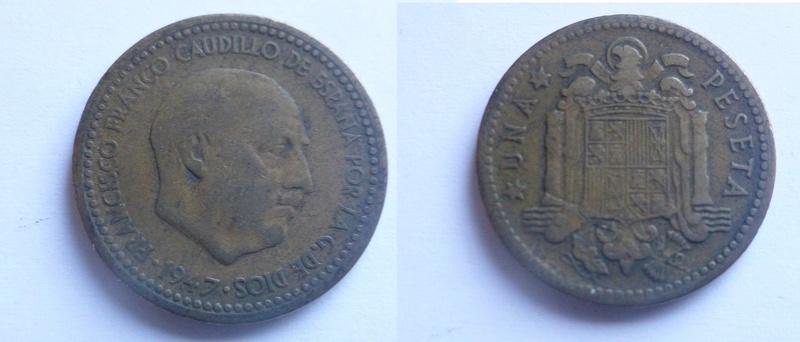 1 peseta 1947 (*19-56). Estado Español P1040311
