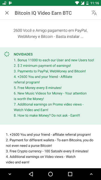 [Provado] Bitcoin IQ Video Earn BTC - Android - Paga por Paypal/Bitcoins (Actualizado em 16/10/2017) Bitbit10