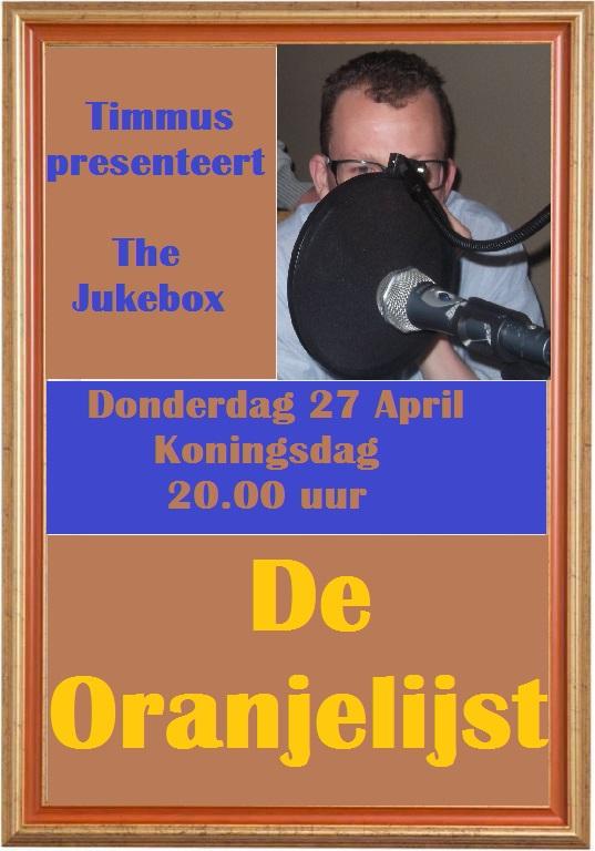 Donderdag 27 april: Oranjebox Oranje10