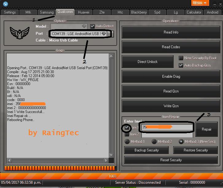 lg ms323 Reparacion de Imei exitosa :D con falcon 1.8 crack Repara33