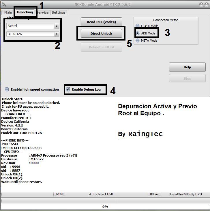 Aporte Unlock Alcatel Idol Mini ot 6012a Unlock38