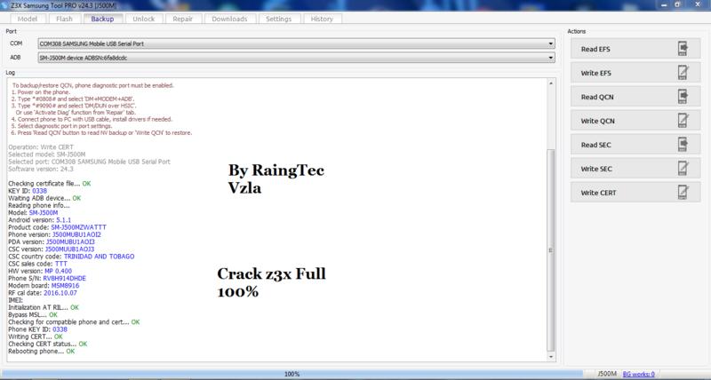SOLUCION J500M WRITE CERT ERROR BYPASS MSL 100%CRACK Z3X Write_17