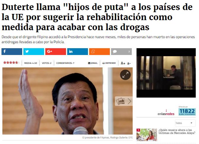 Presidente de Filipinas se comparó con Hitler y quiere matar tres millones de adictos - Página 2 46464710
