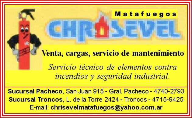 En General Pacheco. En seguridad y prevención: Chrisevel. Aviso_11