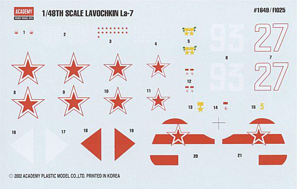 """Ла-7 1/48 Academy """"дрова с дополнениями"""" Acad_l14"""