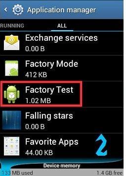 Aporte solución Factory test Mod Habilitado 210