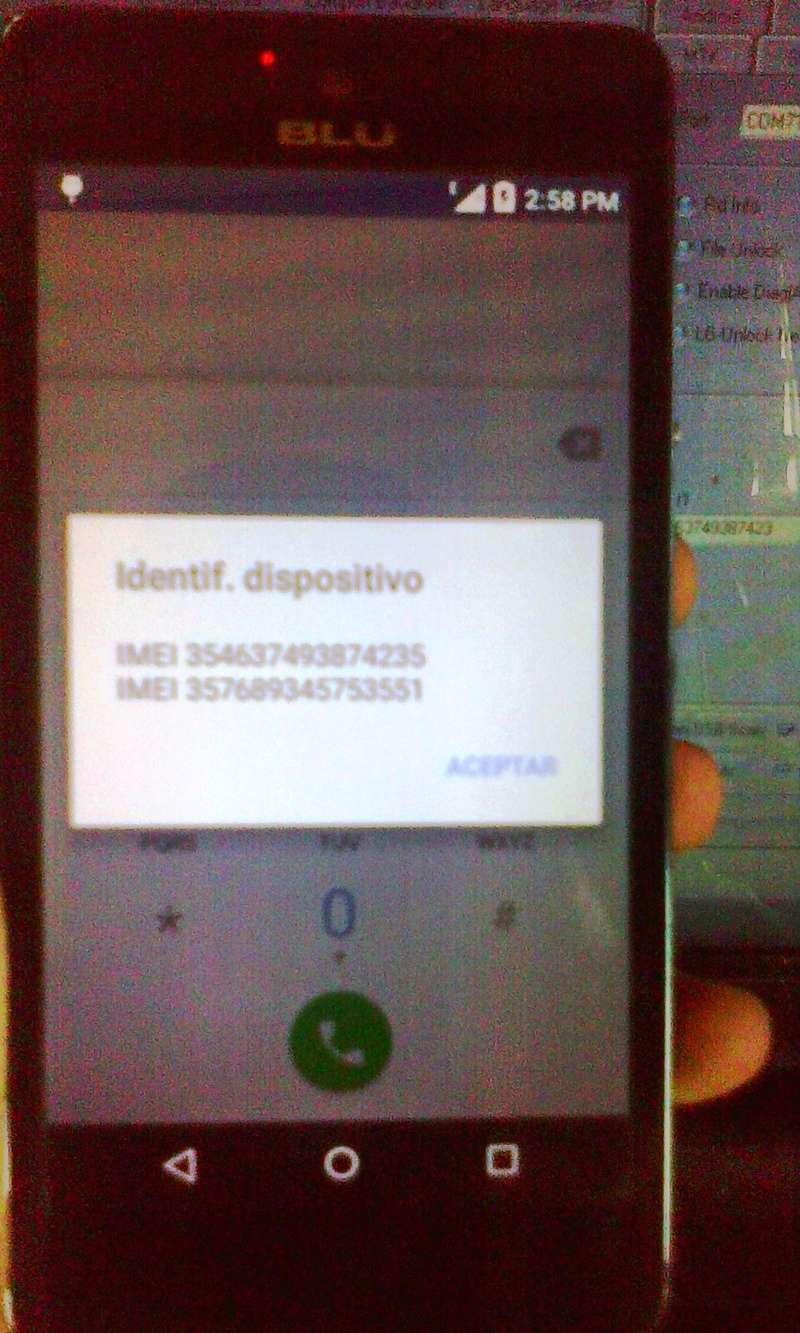 Aporte Reparación de imei Blu Studio C 5+5 LTE QUALCOMM BY MIRACLE Blu_st13