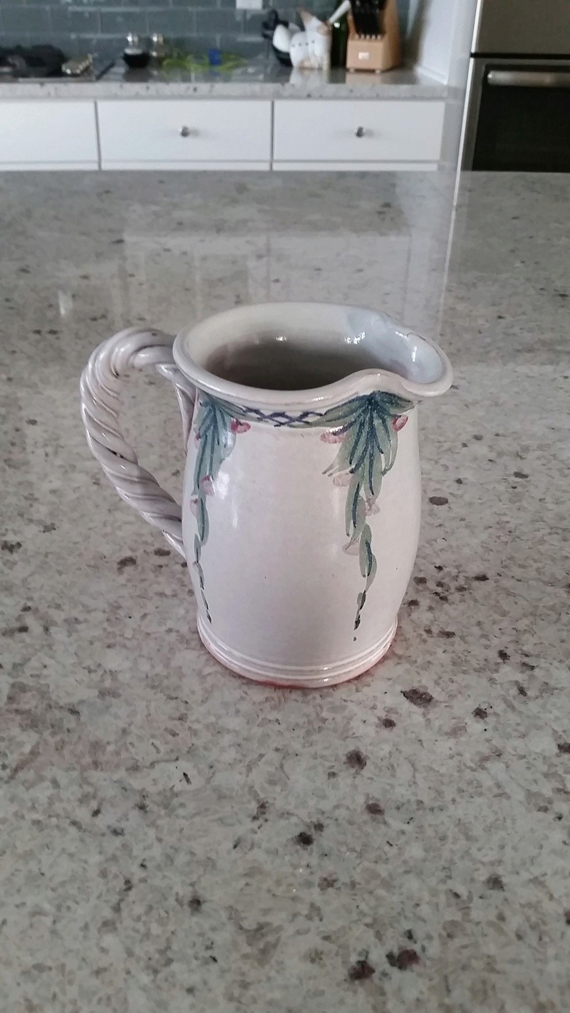 small pitcher with unknown marking 13410