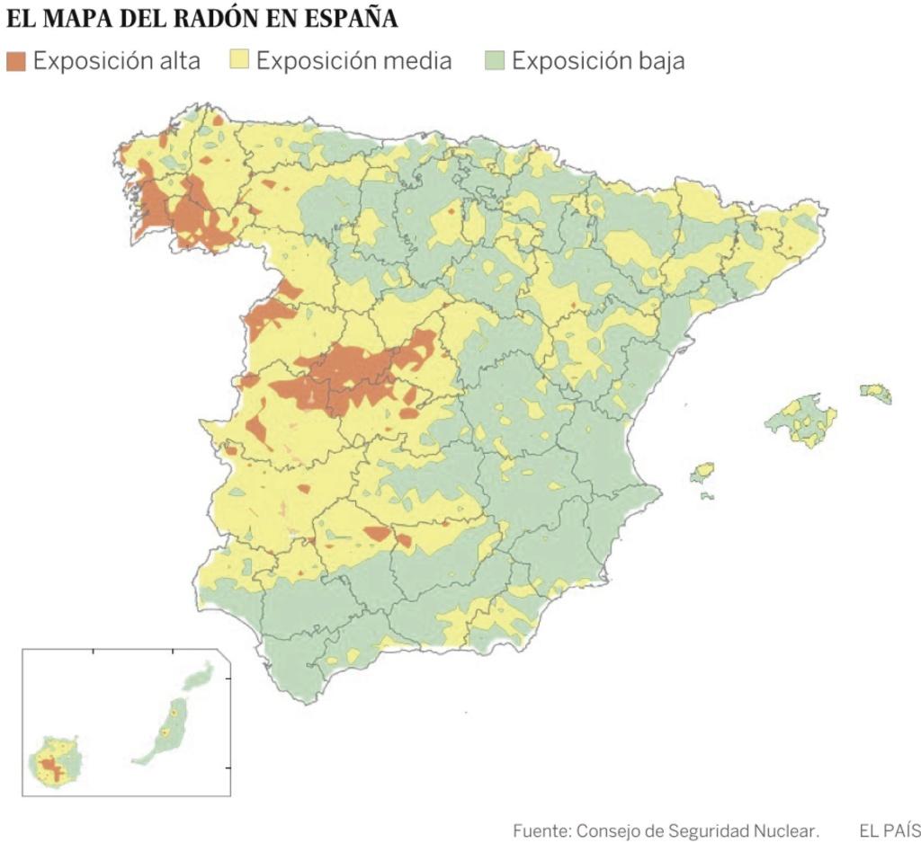 España, Galiza: gas radón, cáncer, edificios laborales, viviendas... 14869210