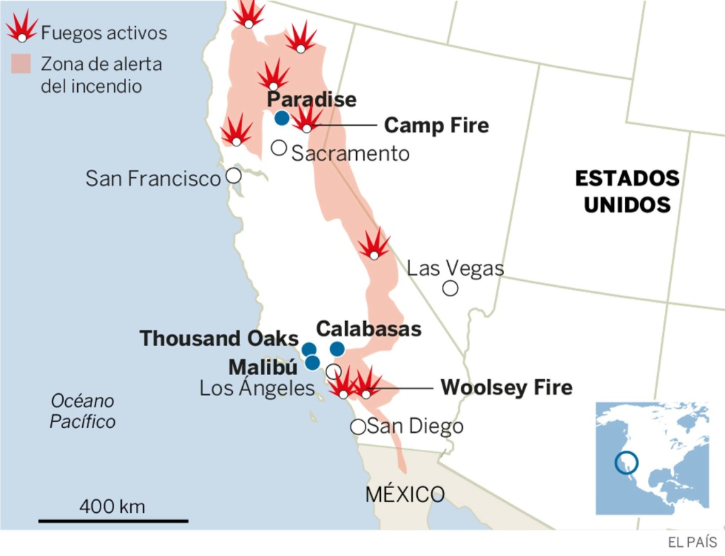 EEUU. Incendios. California: 230.000 personas evacuadas. 15420410