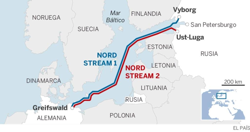 Energía: Gasoducto Nord Stream desde Rusia por el Báltico a la UE. 15496410