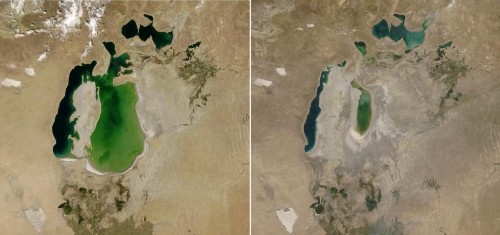 Mar de Aral reducido al 10% de la superficie anterior. 15524810