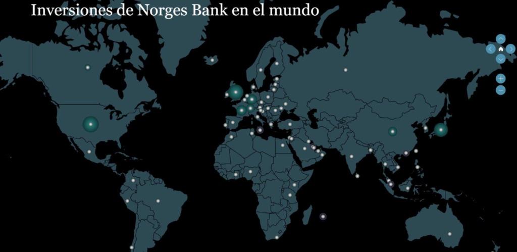 Noruega: Fondo soberano, 1 % de las acciones cotizadas en el mundo, 2 % en Europa. 15720010