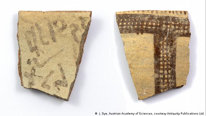 Arqueólogos hallan un fragmento con letras, posible primera prueba del precursor de nuestro alfabeto. [Historia] 57233010