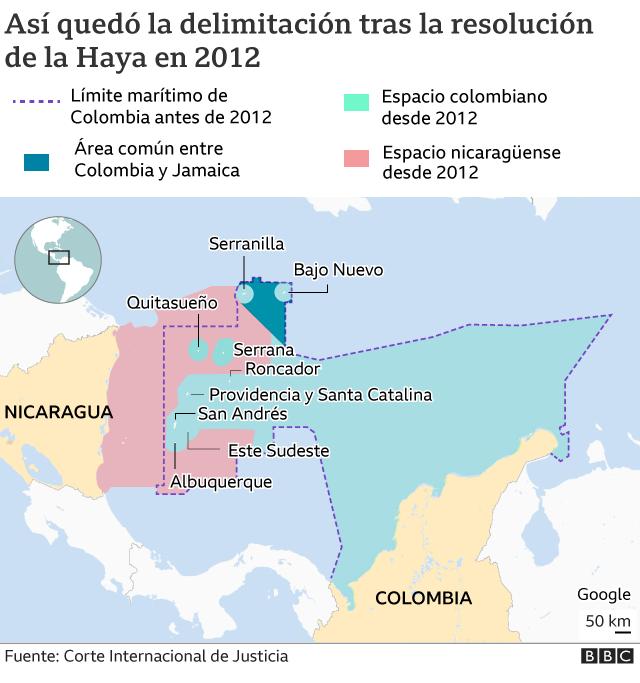 Colombia y Nicaragua: otro litigio en torno a las aguas de San Andrés y Providencia. _1206110