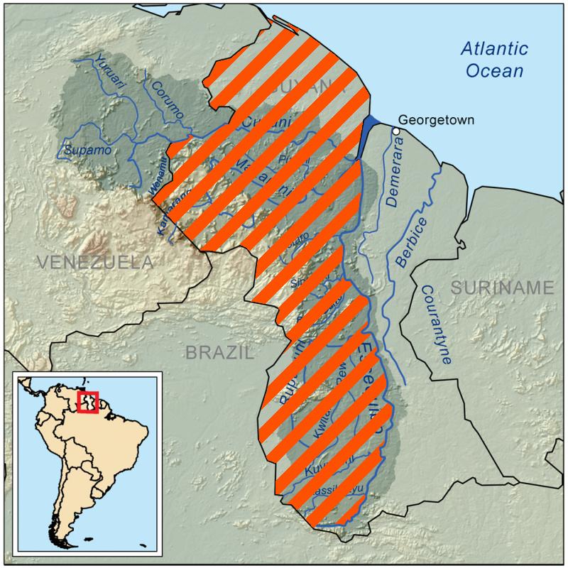 La Corte Internacional de Justicia de la ONU [La Haya] intervendrá en la disputa fronteriza desde 1899 entre Guyana y Venezuela. Guayan10