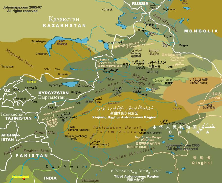 """Xinjiang [Turquestán oriental] en """"La China de Xi Jinping"""" de Xulio Ríos. Xinjia10"""
