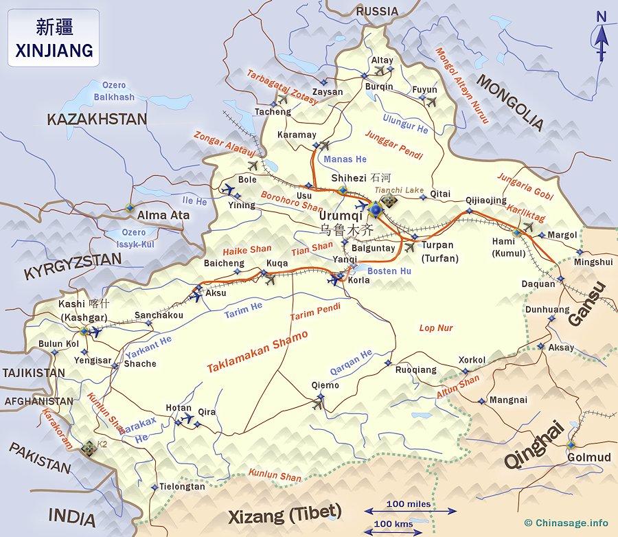 """Xinjiang [Turquestán oriental] en """"La China de Xi Jinping"""" de Xulio Ríos. Xinjia11"""