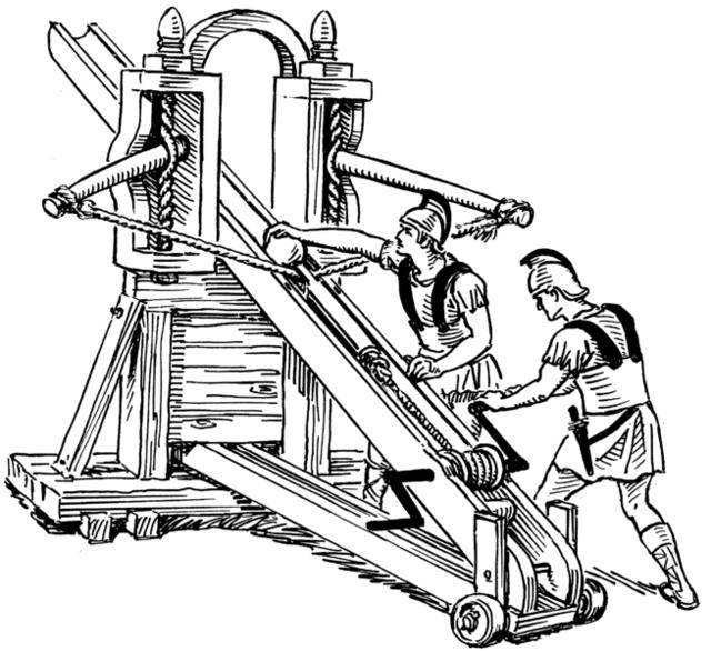 Los feudos de carpinteros: Armas de asedio. Ballis10