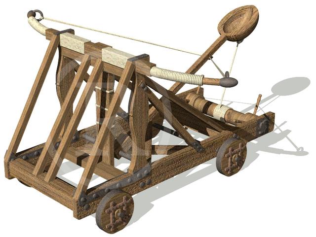 Los feudos de carpinteros: Armas de asedio. Catapu11
